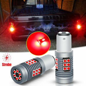 Strobe Flash LED Red Brake Tail Turn Signal Light Bulbs For Chevy S10 1982-1993