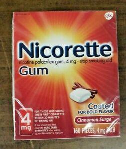 Nicorette Nicotine Gum 4mg Cinnamon Surge 160 Pieces EXP 08/2023 FREE SHIPPING