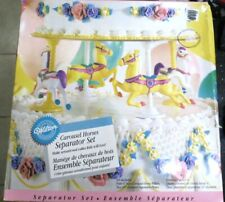 Wilton Carousel Horses Cake Separator Set NEW #2103-1139 Vintage 1996