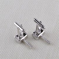 Thor Hammer Novelty Cufflinks Silver Color Alloy Cuff Links For Wedding Party