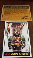 2014 TOPPS IDW LIMITED MARS ATTACKS REPRINT SKETCH TRADING CARD DAN HARDING # 38