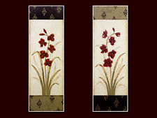 Regina-Andrew Design 2er Set Blumen Flowers Poster Bild Kunstdruck 90x30cm