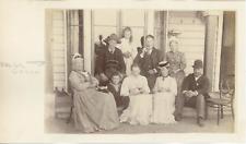 Australie, Photo de famille avec arrière grand-mère, ca.1895, Vintage albumen pr