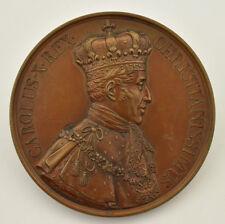Médaille Charles X Roi Sacre Reims graveur Gatteaux