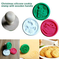 1Set Christmas Silicone DIY Cookie Carved Stamp Fondant Biscuit Embossing Cutter