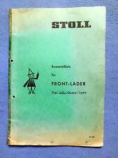 Stoll Frontlader  John Deere / Lanz   Ersatzteilliste