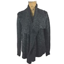 Medium Chunky Drape Cardigan Sweater Cuidado Con El Perro Gray Black High Low LN