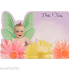 BABY SHOWER Flitterbyes THANK YOU NOTES (8) ~ Party Supplies Stationery Thanks