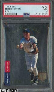 1993 SP Foil #279 Derek Jeter New York Yankees RC Rookie HOF PSA 7 NM