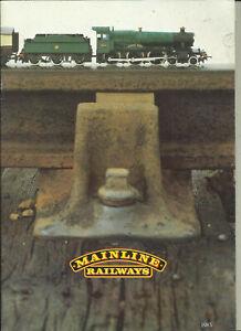 Katalog Palitoy Mainline Railrways 1983 Modelleisenbahnen in OO System