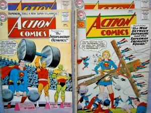 ACTION COMICS Issues 276, 298, 304, & 318 (DC May '61-Nov '64)