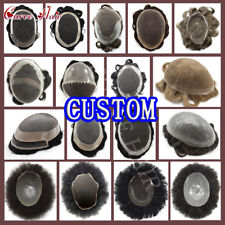 Custom Mens Toupee Custom Mens Replacement System 100% Human Remy Hair