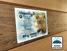 Personalised pet Cat memorial plaque, Bench plaque, Garden grave marker.
