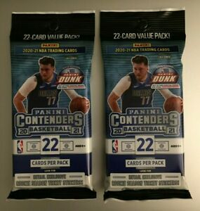 LOT (2) 2020-21 PANINI CONTENDERS NBA 22-Card VALUE CELLO FAT PACKS LaMelo RC?