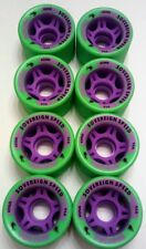 ROLLER SKATE WHEELS 8-Pack 62mm x 42mm 94a Indoor / Outdoor Green Quad Derby