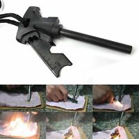 Survival Flint Stone Fire Starter Striker Lighter Emergency Outdoor Camping Kits