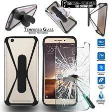 Tempered Glass Screen Protector+silicone bumper Case For Xiaomi MI / Redmi Phone