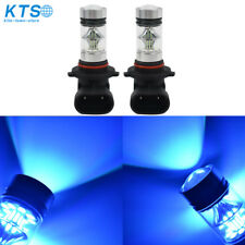 2x 9005 HB3 9145 H10 8000K ice-blue 100W LED Projector Fog Driving Light Bulb