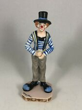 "Willits Designs Porcelain Clown Figurine by Mary Kern - 4.5"" Tall"