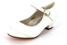 De Chica Spot On! h3020 Satén O Plateado Metálico Dama Honor / Ocasión Zapatos
