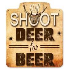 Buck Deer Hunting Metal Sign Man Cave Garage Body Shop Cabin Barn Shed Lodge 9