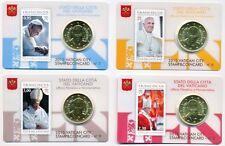 Vatikan Stamp & Coincard Nr. 6+7+8+9  2015 Papst Franziskus, nur je 15.000 - rar