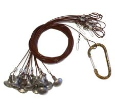 """New - Lifetime Decoys 72"""" 6 oz Coated Cable Decoy Rig - Includes Carabiner"""