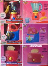 3 Kids KITCHEN APPLIANCES Blender+Mixer+Toaster Real Working Playhouse Food Set
