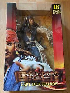 """Jack Sparrow Action Figur 46cm 18"""" Fluch der Karibik NEU OVP Sound Pirates NECA"""
