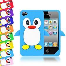 3d Lindo Penguin Cartoon Suave Grueso De Silicona Funda Protectora Para Apple Iphone 4s / 4