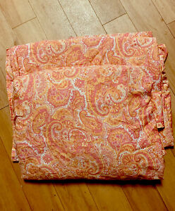 Lauren Ralph Lauren Cotton Coral Paisley Flat & Fitted Set Full