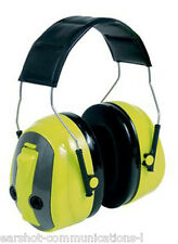 3M Peltor Optime MT155H530A 489-GB Push To Listen Ear Muff Defenders Viz Yellow