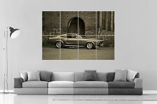 Ford Mustang Shelby GT 500 Eleanor 1967 Art Poster Grand format A0 Large Print