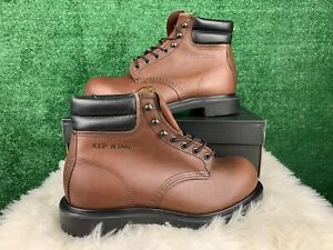 Red Wing Supersole 6 Steel Toe Safety Brown Boots Made in USA 2245 Men Size 8 E3