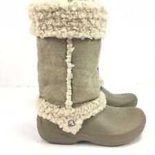 Crocs Nadia Boots - Women's Size 10 - Tan