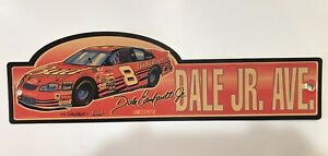 """DALE EARNHARDT JR. 2001 #8 Budweiser  """"DALE JR. AVE"""" SIGN"""