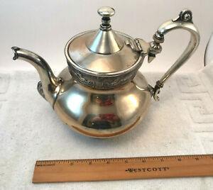 Reed & Barton Silverplate Tea Pot Decorated w/ Cherubs