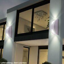 2er Set esterno di facciata continua LAMPADE circa in acciaio inox down Applique Faretti VERANDA