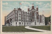 Michigan MI Postcard c1910 MONROE ST MARY'S ACADEMY FOR BOYS School