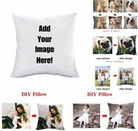 Personalized Printed Photo Pillow Case DIY Custom Made Photo Print Cushion Cover