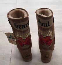Koolaburra HEART SOUL Sheepskin Boots UK4 EU37 New