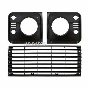 Land Rover Defender 90 110 130 TD5 Style Headlamp Surrounds & Grille Upgrade