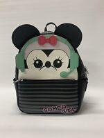 Loungefly Disney Gamer Girl Minnie Mouse Black Mini Backpack Bag Cute READ