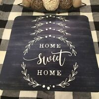 Farmhouse New Home Sweet Home Chalk Style Midnight Navy Blue Placemats Set of 4