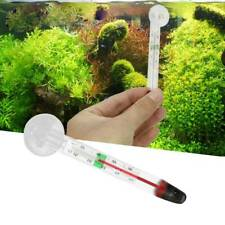 1x Glass Meter Aquarium Fish Tank Water Thermometer Temperature With Suction Cup