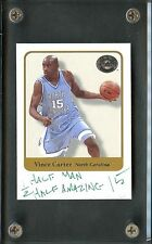 "2001 Fleer Greats Of The Game Vince Carter ""1/2 Man 1/2 Amazing"" AUTO"