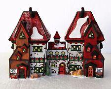 "Department 56, North Pole, ""North Pole Dolls & Santa's Bear Works"" Set of 3"
