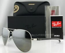 Ray-Ban RB8317CH 003/5J Carbon Sunglasses Silver Mirror Polarized Chromance 58mm