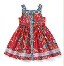 Matilda Jane HIGH ROAD Dress 6 Red Floral Sleeveless Gingham Trim Camp MJC NWT
