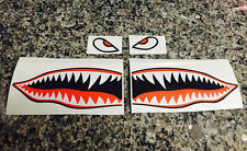 "10"" Flying Tigers Shark Teeth A-10 Warthog Decals Stickers Warhawk Fighter Jet"